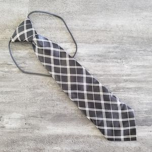 White Black Satin Little Boy Tie
